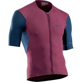 Northwave Extreme 4 Short Sleeve Jersey Men bordeaux/blue